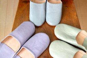バブーシュ(モロッコの職人さん手づくり)カラー3色
