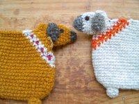 フェアトレード・ウール手編み・ククルのポーチ(ネパール/2色)