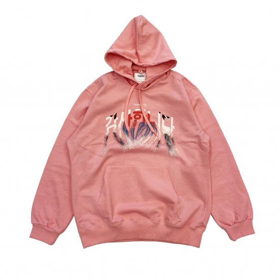 doublet / THANK YOU FRINGIE EMBROIDERY HOODIE