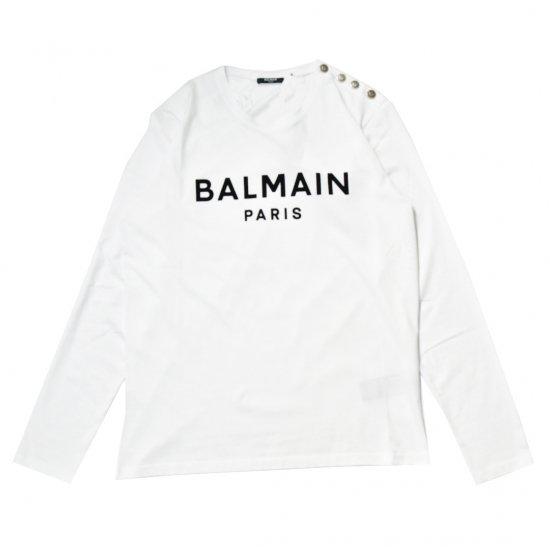 BALMAIN / FLOCKY LOGO LONGSLEEVE T-SHIRT