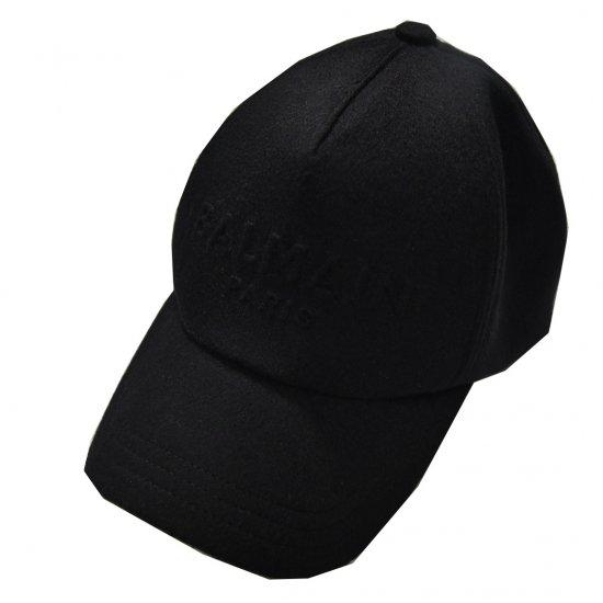 BALMAIN / WOOL EMNBOS LOGO CAP