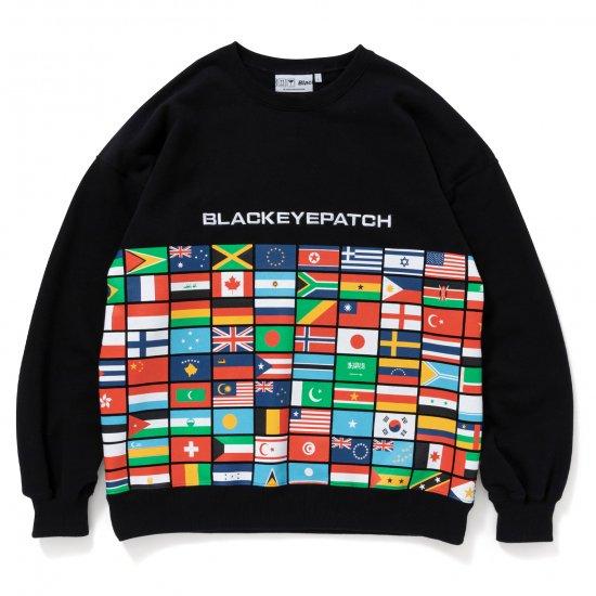 BlackEyePatch / FLAGS CREW SWEAT