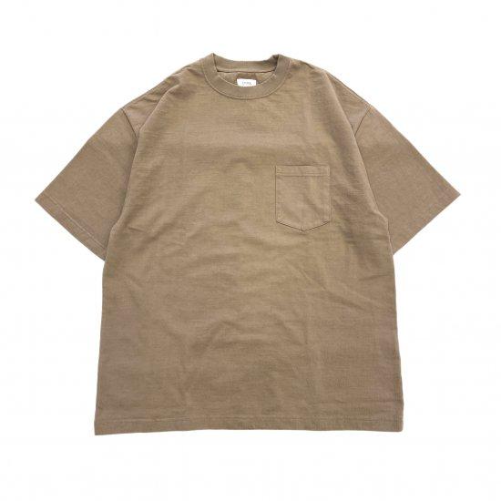 CIOTA / スビン10 度詰め天竺ポケット付き半袖Tシャツ
