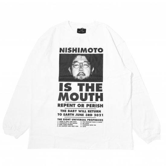 NISHIMOTO IS THE MOUTH / NISHIMOTO IS THE MOUTH L/S T-SHIRT WHITE