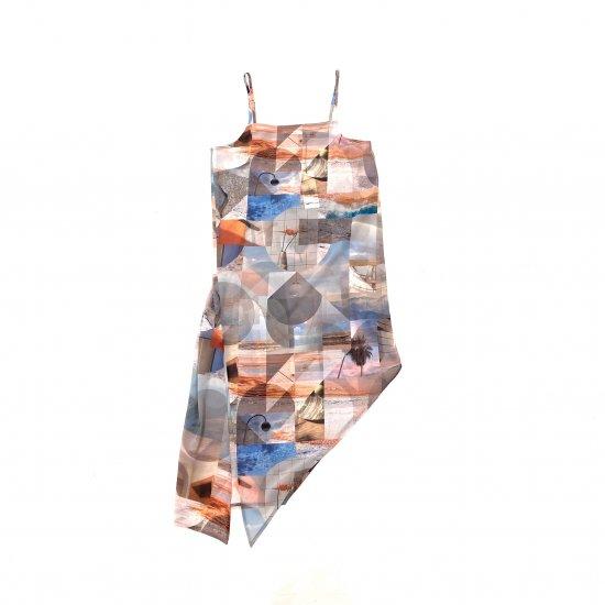 PHEENY / PRINT CHIFFON ASYMMETRY DRESS