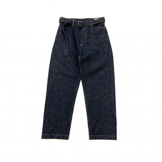 blurhms / 13.5 SELVAGE DENIM LONG BELTED PANTS