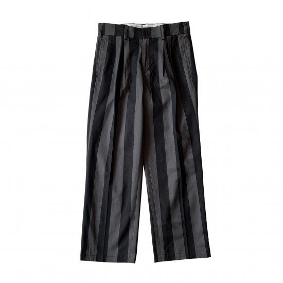 FUCKING AWESOME / FILIGREE STRIPED PLEATED CHINOS