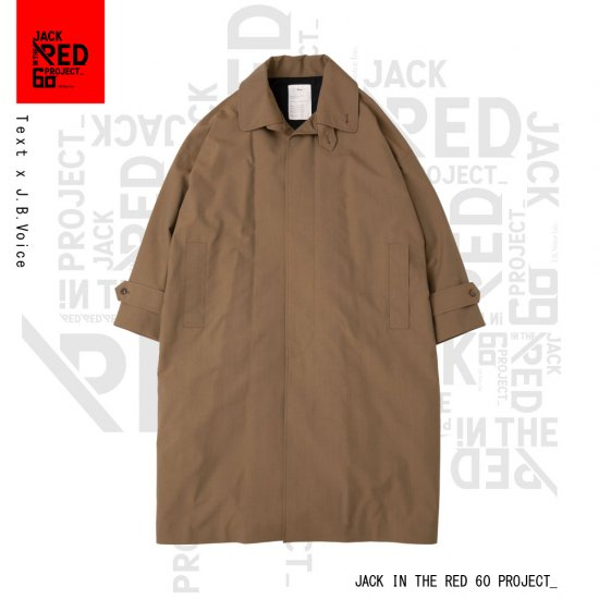Text / × J.B.Voice TRENCH COAT , SINGLE-BREASTED DOUBLE COLLAR