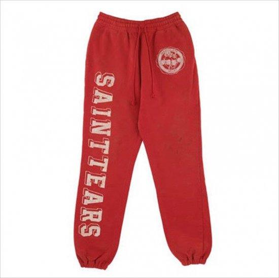 ©️SAINT M×××××× / SMxDENIMTEARS SWEAT PANTS RED