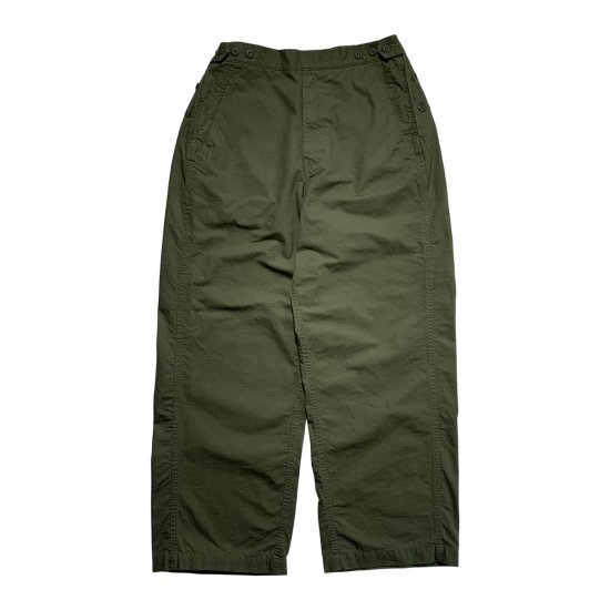 TapWater / COTTON RIPSTOP MILITARY TROUSERS