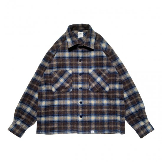"""BEDWIN & THE HEARTBREAKERS / L/S SHAGGY WOOL CHECK SHIRT """"ROSIE"""""""