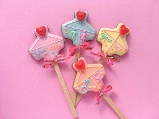 あいあい傘のロリポップアイシングクッキー