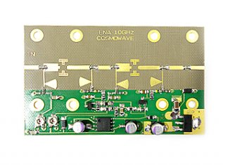 10GHz帯 プリアンプ パーツ実装基板