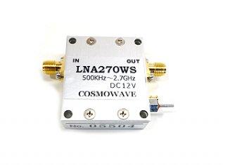 広帯域フラットアンプユニット 0.5〜2700MHz LNA270WS