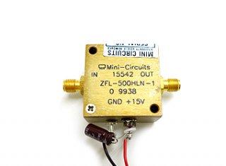 広帯域ローノイズアンプ 10MHz〜500MHz ZFL-500HLN 中古 MCL