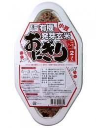 コジマフーズ 有機発芽玄米おにぎり 小豆 180g(90g×2)
