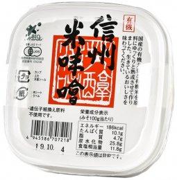 ビオマーケット 有機信州米味噌 470g