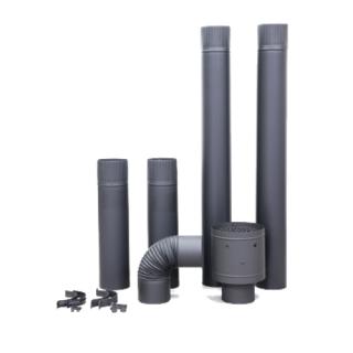 【C3用】ステンレス製煙突部材8点セット (煙突径Φ106mm)