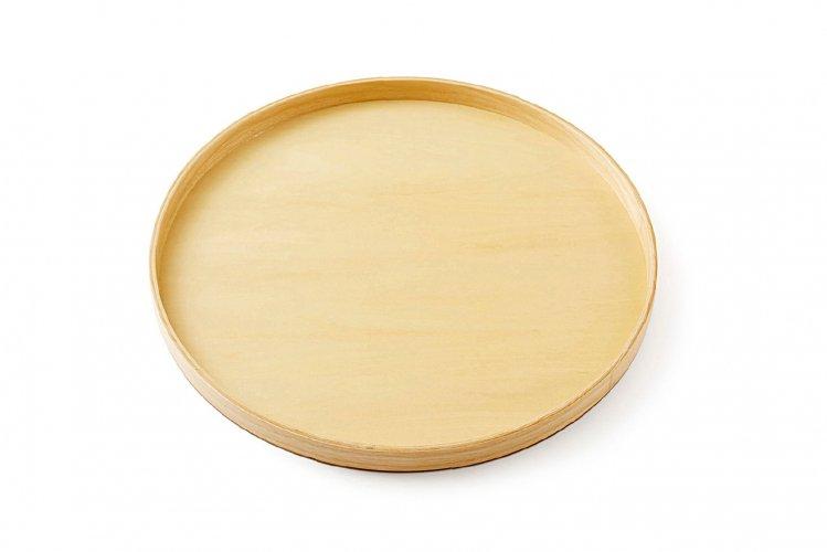 白木  30cm 丸盆