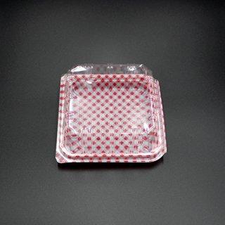 ユニコンLS-T9 W114 赤チェック(100枚入)【06513813】