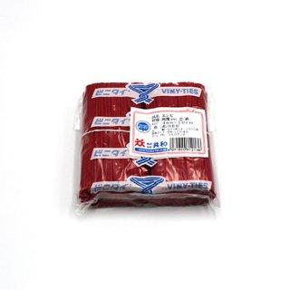 ビニタイ 4×10 赤(1袋/1000本)【04670600】