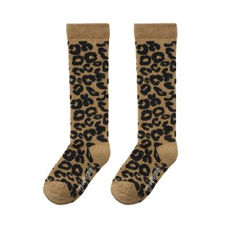 <img class='new_mark_img1' src='https://img.shop-pro.jp/img/new/icons47.gif' style='border:none;display:inline;margin:0px;padding:0px;width:auto;' />maed for mini / Knee Socks / Brown Leopard AOP