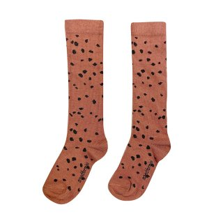 <img class='new_mark_img1' src='https://img.shop-pro.jp/img/new/icons20.gif' style='border:none;display:inline;margin:0px;padding:0px;width:auto;' />maed for mini / Knee Socks / Brown Sahara Leopard AOP