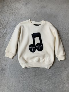 <img class='new_mark_img1' src='https://img.shop-pro.jp/img/new/icons20.gif' style='border:none;display:inline;margin:0px;padding:0px;width:auto;' />mini rodini / NOTE PATCH SWEAT SHIRT / off white