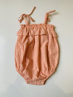 <img class='new_mark_img1' src='https://img.shop-pro.jp/img/new/icons14.gif' style='border:none;display:inline;margin:0px;padding:0px;width:auto;' />the new society / RACHEL BABY ROMPER / CORAL CHECK