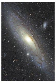 アンドロメダ銀河 天体写真プリント(A4サイズ安価版)