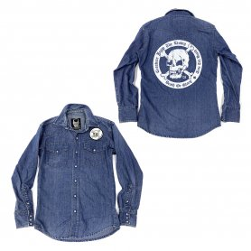 DEATH OR GLORY Custom Denim Shirt