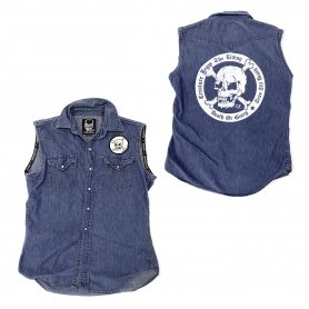 DEATH OR GLORY Custom Denim Vest