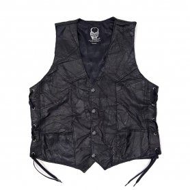 DEATH OR GLORY Custom Patchwork Leather Vest
