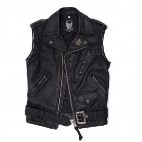 DEATH OR GLORY Custom Leather Vest