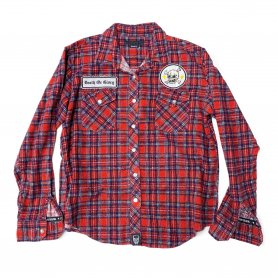 DEATH OR GLORY Custom Flannel Shirt Type-D【S】