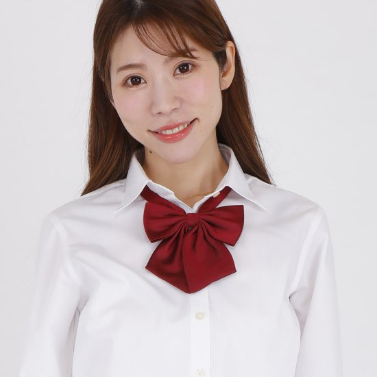 スクール リボン 女子高生 (エンジ無地)全17種類 正規品 JK制服 【画像4】