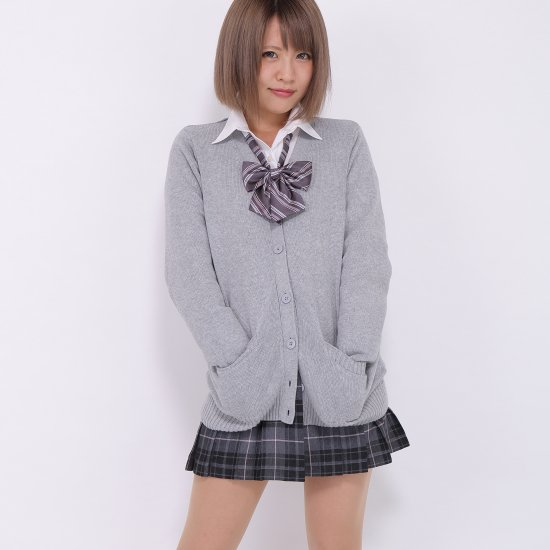 プリーツスカート (グレー×ピンク) NEW 全20種類 正規品 JK制服 スクールスカート メール便 送料無料【画像2】