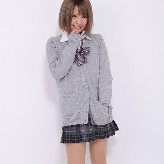 プリーツスカート (グレー×ピンク) NEW 全20種類 正規品 JK制服 スクールスカート メール便 送料無料【画像3】
