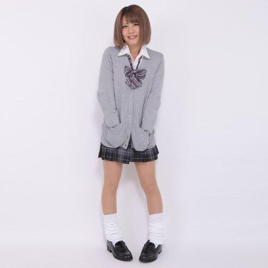 プリーツスカート (グレー×ピンク) NEW 全20種類 正規品 JK制服 スクールスカート メール便 送料無料【画像5】