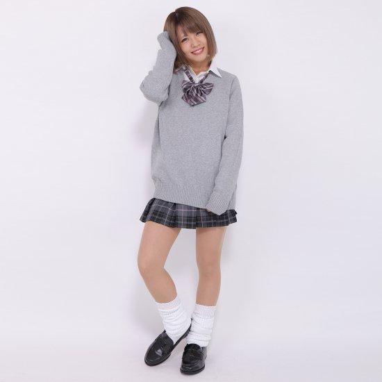プリーツスカート (グレー×ピンク) NEW 全20種類 正規品 JK制服 スクールスカート メール便 送料無料【画像6】