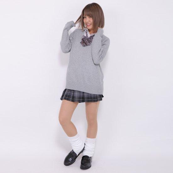 プリーツスカート (グレー×ピンク) NEW 全20種類 正規品 JK制服 スクールスカート メール便 送料無料【画像7】