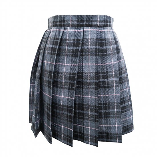 プリーツスカート (グレー×ピンク) NEW 全20種類 正規品 JK制服 スクールスカート メール便 送料無料【画像8】
