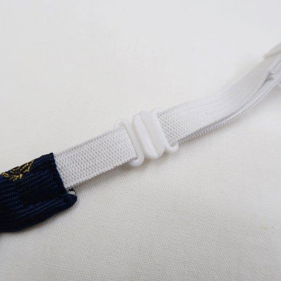 スクール リボン 女子高生 ( ネイビー 紋章 × ストライプ ) 全17種類 正規品 JK制服 メール便 送料無料【画像6】