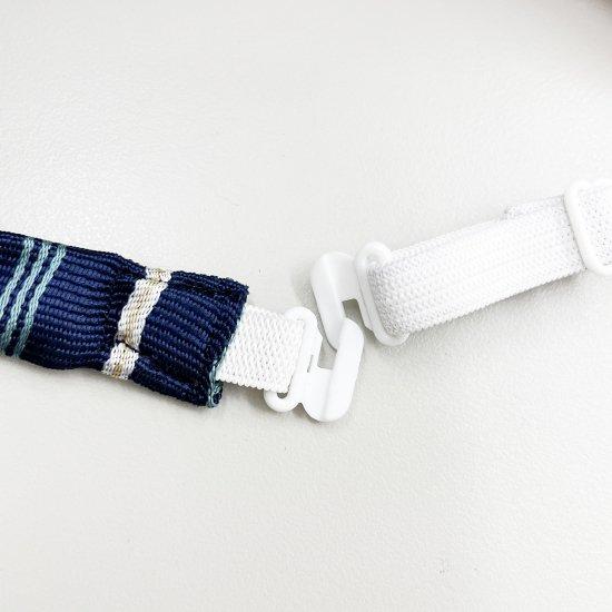 スクール リボン 女子高生 (3本ストライプ紺)全17種類 正規品 JK制服 メール便 送料無料【画像5】