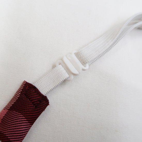 スクール リボン 女子高生 ( レッド × ピンクチェック )新柄 全17種類 正規品 JK制服 メール便 送料無料【画像7】