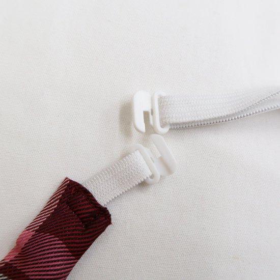 スクール リボン 女子高生 ( レッド × ピンクチェック )新柄 全17種類 正規品 JK制服 メール便 送料無料【画像8】