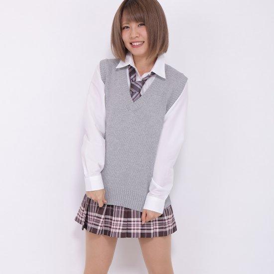 プリーツスカート (ブラウン×ピンク) NEW 全21種類 正規品 JK制服 スクールスカート メール便 送料無料【画像2】