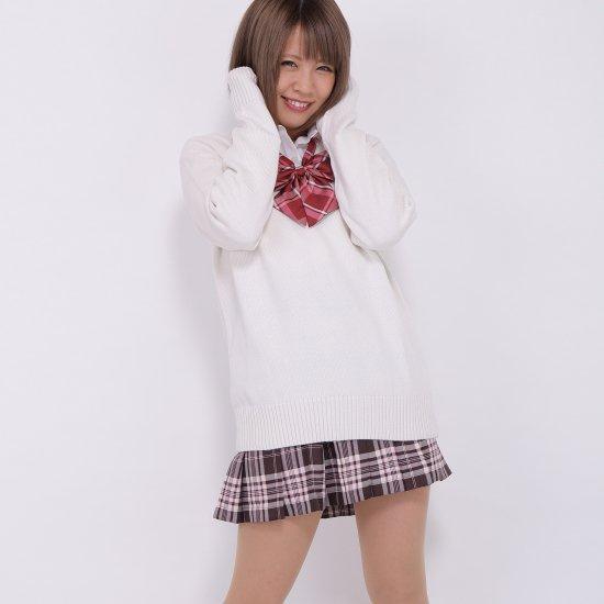 プリーツスカート (ブラウン×ピンク) NEW 全21種類 正規品 JK制服 スクールスカート メール便 送料無料【画像3】