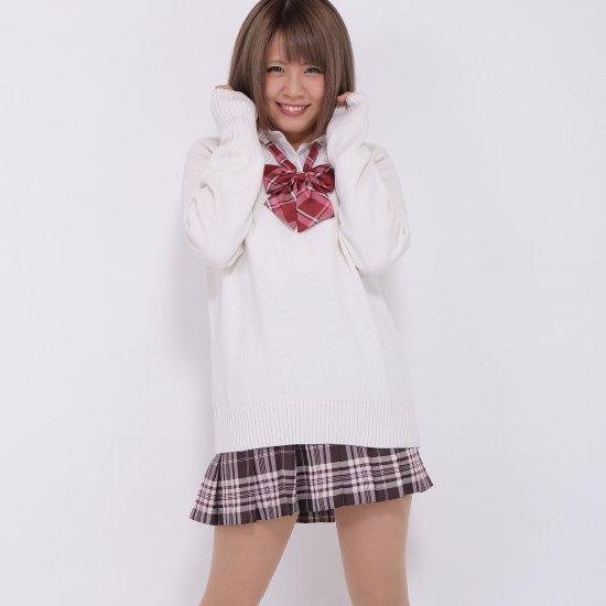 プリーツスカート (ブラウン×ピンク) NEW 全20種類 正規品 JK制服 スクールスカート メール便 送料無料【画像4】