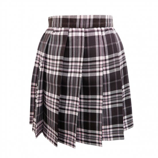 プリーツスカート (ブラウン×ピンク) NEW 全20種類 正規品 JK制服 スクールスカート メール便 送料無料【画像8】